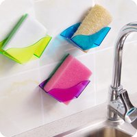 Wholesale Wall Mounted Kitchen Utensil Holders - Double Suction Cup Sink Sponge Holder Kitchen Utensils Drying Rack Storage Organizer