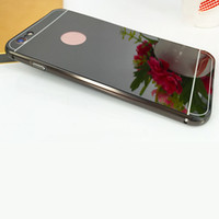 Wholesale Cover Bumper Iphone 5c - 2016 Brand New Electroplating Aluminum Metal Bumper Frame Slim Acric Mirror Back Cover For iPhone 5 5c 5S 6 6s 6sPlus 7 plus