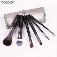 Wholesale lip cleaner for sale - Group buy Docolor Make Up Brushes Set with Leather Case Makeup Brushes Clean Powder Foundation Eyeshadow Eyebrow Lip Brushes