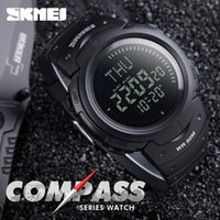 Wholesale Men Sport Led - 2017 SKMEI Outdoor Sports Compass Watches Hiking Men Watch Digital LED Electronic Watch Man Sports Watches Chronograph Men Clock