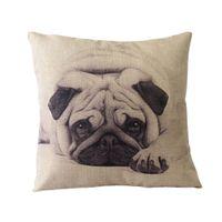 ingrosso cuscino di lancio del gufo-All'ingrosso- Vintage Cotton Cover Owl Linen Pillow Case Waist Throw Cushion HomeW1