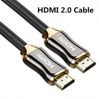 Wholesale Nylon Hdmi Cable - Alloy Gold Plated HDMI Cable Nylon Braided V2.0 4K x 2K Ethernet Support Video 4K 2160P HD 1080P 3D 1m 1.5m 2m 3m 5m