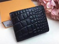 Wholesale Korean Cartoon Fruits - New Men Brand Designer Folding Short No Zipper Wallet Genuine Leather Wallet Card Holder Top Quality Money Purse