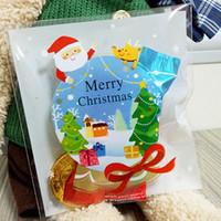 suportes de bola de doces venda por atacado-Atacado-25PCS / Lot Mini Natal bola de cristal Kids presente titular biscoitos embalagens sacos de casamento Bake doces jóias Biscuit sacos de plástico