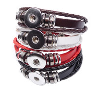 Wholesale European American Music - retro infinity bracelet noosa leather snap button bracelets DIY snap jewelry