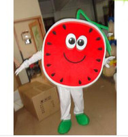 Wholesale Watermelon Fancy Dress Costume - holiday watermelon mascot costume fancy party dress suit carnival costume with free shipping