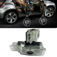 Wholesale Courtesy Lights - Plug Play LED Car door courtesy laser projector Logo Ghost Shadow Light For Mercedes-Benz SLK SLR C Class W639 W240 W209 R171 R199