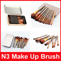 Wholesale Cosmetic Power - N3 Power Brush Makeup Brushes Professional Make up Brush Kit Cosmetic Brushes Tool 12Pcs Set DHL