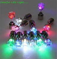 flaş mıknatıs küpe toptan satış-Noel Hediyesi LED Damızlık Flaş Küpe Tokalar Strobe LED Küpe Işıklar Strobe LED Işık Küpe Parti Mıknatıslar Moda Küpe Işıkları
