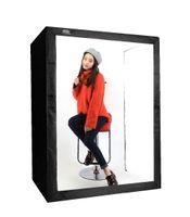 Wholesale professional light kit - 120*80*160cm DEEP LED Professional Portable Photography Softbox LED Photo Studio Video Light Box with LED Lights for Cloth Model