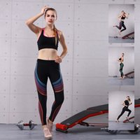 Wholesale Woman Cycling Jersey Blue - New Arrival Women Printed Yoga Wear Sports Long Pants Running Gym Leggings Cycling Jersey