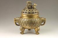 Wholesale Antique Chinese Bronze Incense Burner - Chinese Handmade Exquisite Auspicious Dragon Bronze Incense Burner