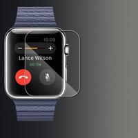 Wholesale Moq Screen Protector - 0.26mm Tempered Glass 9H Proof Premium Protective Film Guard Smart Sport Watch Screen Protector for 38MM 42MM Apple Watch iWatch MOQ:100pcs