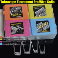 Wholesale Wholesale Organic Handmade - New Tubrovape Tourament Heating Wires Coils Frotress Violin Cemipede Crack Handmade Pre Building with organic cotton 4in1 RDA RTA Coil DHL