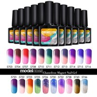 Wholesale Led Color Changing Nail Polish - Wholesale- Modelones Beauty Temperture Color Change Nail Gel Polish 10ml Soak Off UV LED Nail Art For Long-lasting Gel