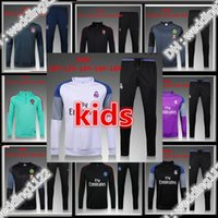 Wholesale Children S Wear Boys - 2016 2017 Kids Long Sleeve Real Madrid Tracksuit Jogging Chelsea coat jacket Youth Sport Wear Children Ronaldo training tracksuit
