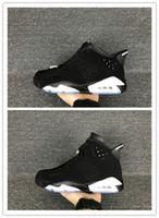 kaliteli erkek ayakkabı markaları toptan satış-Toptan kutusu ile Yeni 6 VI Siyah Gümüş Beyaz ERKEKLER basketbol ayakkabı 6 s erkek spor ayakkabı sneakers marka eğitmenler En kaliteli boyutu 8-12