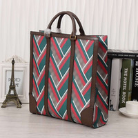 High End Mens il cuoio genuino totes Strisce vintage medie Cartelle Borse per uomini d'affari di moda Mens Totes per Daily 406.387