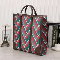 Wholesale Vintage Satchel Bags For Men - High End Mens Totes Genuine Leather Vintage Stripes Medium Satchels Bags for Men Business Fashion Mens Totes for Daily 406387