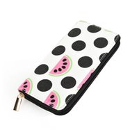 Wholesale Geometric Canvas Clutch - Zipper Lady Canves Wallets Holders Animal Print Floral Cartoon Clutch Bag Credit Card Package Casual Cute Fresh Preppy Stle Phone Bag QQ2163