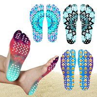 Wholesale Smile Stick - Beach Invisible Anti Slip Insoles Emoji Mandala Nakefit Foot Shoes Insulation Waterproof Soles Stick Sticker on Feet Pads Socks Smile Face