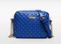 Wholesale sheepskin handbags - 2017 Diamond Handbags Wome Designer handbags wallets for Zipper Genuine Leather women fashion sheepskin leather chain bag shoulder bags