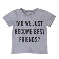 Wholesale Summer Outfit For Kids Boys - O-Neck Summer Baby T Shirt boy Cotton Short Sleeve Casual infant Tops Tees For Kid clothes Children kidswear Outfit 1-6 Year Sweatshirts