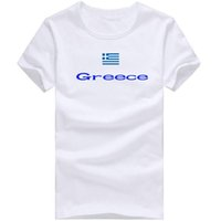 Wholesale Picture Flags - Greece T shirt Ride sport short sleeve Nice picture tees Nation flag clothing Unisex cotton Tshirt