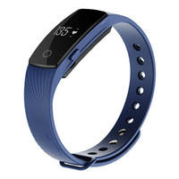 Wholesale Heart Bangle Watches - ID107 Bluetooth Smart Bracelet smart band Heart Rate Monitor Wristband Bangle Watch Fitness Tracker remote camera for Android iOS OTH304