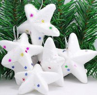 twinkle little star prices - 30Pcs lot Christmas Snow flakes White Little twinkle bell Star Balls Ornaments Holiday Christmas Tree Decortion Festival Party