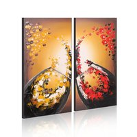 Wholesale Still Life Oils - Framed Wall Art Decoration 100% Hand Made Oil Painting on Canvas 2 Panel Still Life Painting Modern Home Decor