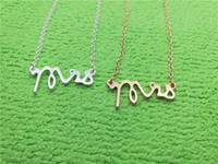 Wholesale Initial Silver Letters - 5PCS Gold Silver Simple Dainty Mrs Necklace Small Stamped Word Initial Necklace Simple Love Alphabet Letter Necklaces