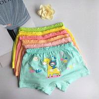 Wholesale Girl Boxers - Children underwear girls organic cotton pants cartoon children in small baby student four angle 6 color shorts