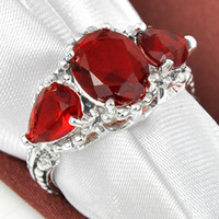 Wholesale Wholesale Citrine Rings - Free Shipping Simple Engagement Cognac Citrine red Solitaire Ring R0834