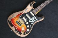ingrosso numeri marroni-Factory shop Rare Guitar Custom Shop Masterbuilt Limited Edition Stevie Ray Vaughan Tribute SRV Number One Chitarra elettrica Vintage Brown