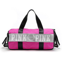 Wholesale Printed Canvas Duffel Bag - Wholesale HOT 2017 Large Capacity Popular Outdoor Pink Training Bag Men Canvas Travel Sports Bag Collection Gym Bag Free shipping