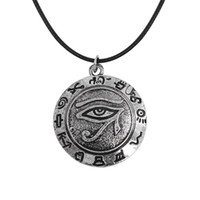 Wholesale circle eagle - European and American games, the eye necklace of the Egyptian eagle head, the pharaoh horus, is a mysterious and creative gift