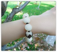 Wholesale Men Bracelet Jade - White jade bodhi root density natural beads hand string bracelet with lotus bodhi son lap deserve to act the role of men and women lovers