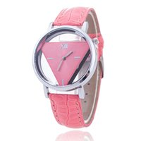 Wholesale Gold Tabs - Free shipping wholesale price Fine when contracted harajuku triangle watch personality double-sided hollow-out the Korean fashion lovers tab