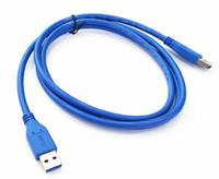 cabo led sata venda por atacado-100 pçs / lote usb 3.0 macho para dual micro usb cabo de extensão de energia para o disco rígido pc portátil