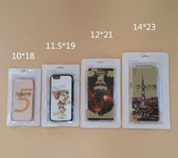 Wholesale Cell Phone Case Retail Packaging - Cell Phone iPhone Case Plastic Packing Zipper Retail Package Zip lock bags with Hang Hole Various Size 500pcs500pcs