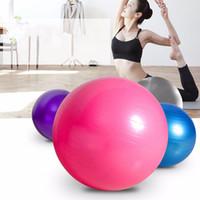Wholesale Aerobic Exercise Training - Wholesale-1PC Gym Yoga Fitness Ball Abdominal Aerobic Body Building Exercise Equipment 55 65 75cm Exercise Pilates Balance Training Ball