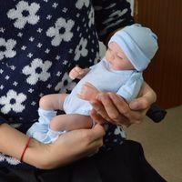 vraies poupées reborn achat en gros de-Plein de silicone poupées reborn bébé Reborn bébé poupées à la main Reborn 11 pouces Real Looking Newborn Baby Girl Silicone poupée réaliste