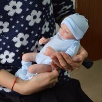 muñecas de silicona de cuerpo completo al por mayor-Todo el cuerpo de silicona muñecas Reborn Baby Muñecas Reborn Baby hecho a mano Reborn 11 pulgadas Real Look Newborn Baby Girl Silicone Realistic Doll