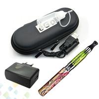 cigarrillo electronico ego q baterias al por mayor-E-cigarrillo electrónico popular Ego Q CE4 solo Kit con 650 900 1100mah Batería Atomizador USB Cargador Zipper Case DHL libre