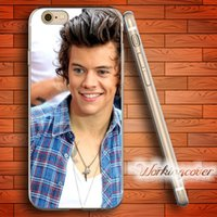 Wholesale Iphone 4s One Direction - Capa Harry Styles One Direction Soft Clear TPU Case for iPhone 6 6S 7 Plus 5S SE 5 5C 4S 4 Case Silicone Cover.