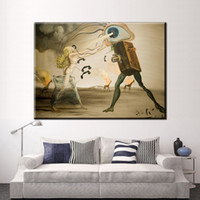 Wholesale Fast Oil Painting - ZZ2051 Salvador Dali Still Life-Fast Moving Canvas Painting For Living Room Home Decoration Oil Painting On Canvas Wall Painting