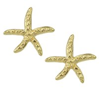 Wholesale Simple Design Metal Starfish Shape Stud Earrings