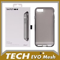Wholesale Drop Tech Case - For Iphone 7 Case TECH EVO Sport For iPhone 7 Plus 6S 6 TPU PC 1:1 Top Quality Cover Clear Drop Protective With Retail Box & LOGO Free Ship