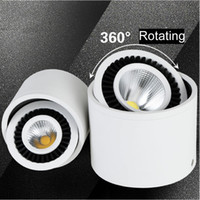 Wholesale Downlight Cob 5w - New 5w 7w 9w Round COB LED Downlight Surface Mounted Kitchen Bathroom Spot light Lamp AC110-240V LED ceiling lamp with led drive